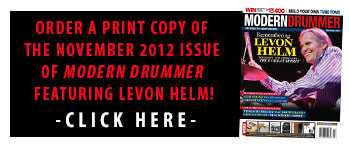 Get A Print Copy of the November 2012 Issue of Modern Drummer featuring Levon Helm!