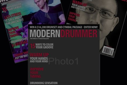 News: Be on the Cover of Modern Drummer, the World's Greatest Drum Magazine! Design a Custom Print Today!