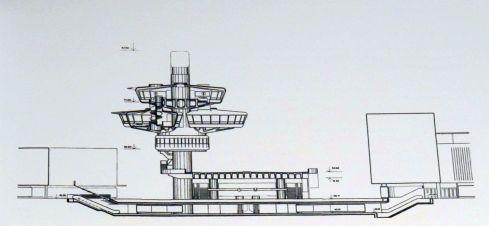 Wie er hätte werden können: Berlin, Bierpinsel-Entwurf, 1968 (Copyright: Archiv Schüler-Witte)