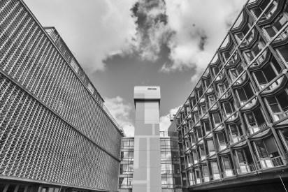 "Berlin-Steglitz, Charité Campus Benjamin Franklin (F. Mocken, Curtis & A. Q. Davis, 1969) (Copyright: Denis Barthel, Projekt ""Brutalist Berlin"")"