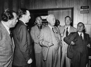 Theodor Heuss bei der Einweihung des Kölner Funkhauses am 21. Juni 1952 (Quelle und Copyright: WDR/Dick)