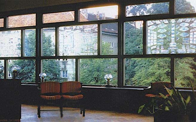 """Potsdam, Terrassenrestaurant """"Minsk"""", Esssaal während der Bauzeit (Bildquelle: Privatarchiv Wladimir Stelmaschonok)"""