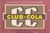 Club-Cola, VEB Ostthüringer Brauereien Pössneck (Bild: historisches Etikett)