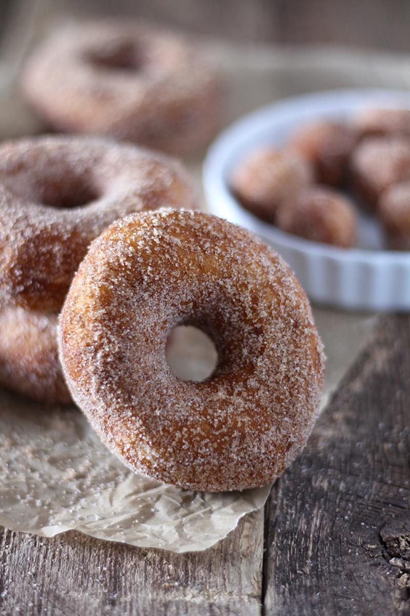 4-Ingredient Cinnamon Sugar Donuts
