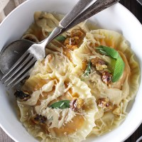 Wonton Wrapper Squash Ravioli with Sweet Brown Butter Sage Sauce