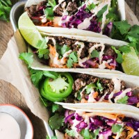 Korean Ground Beef Tacos