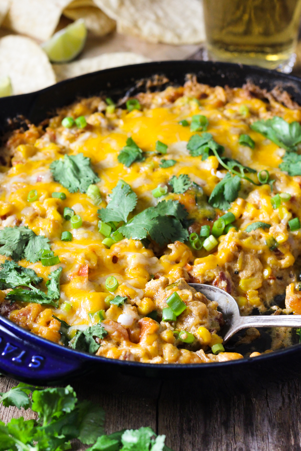 Cheesy Hot Mexican Corn Dip