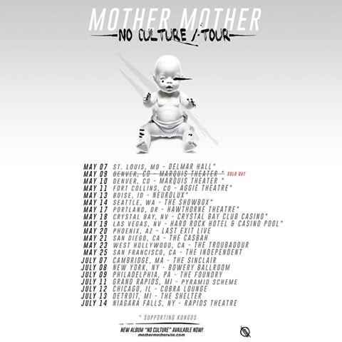 mother mother no culture tour 2017