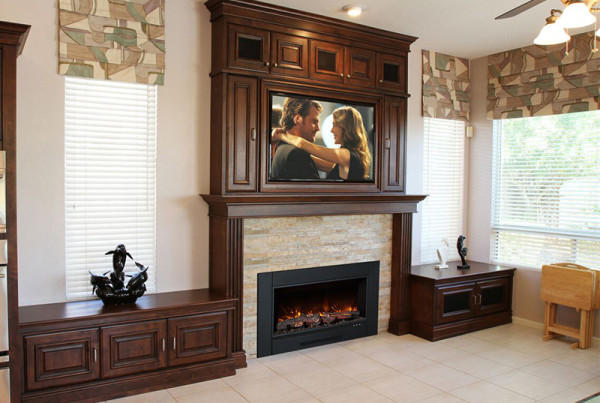 Electric Fireplace Built Wall
