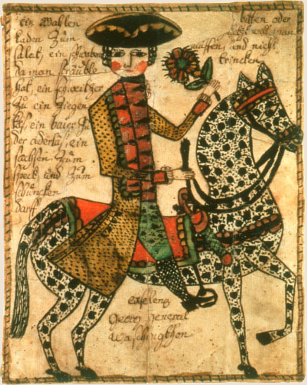 Fraktur modern folk embroidery