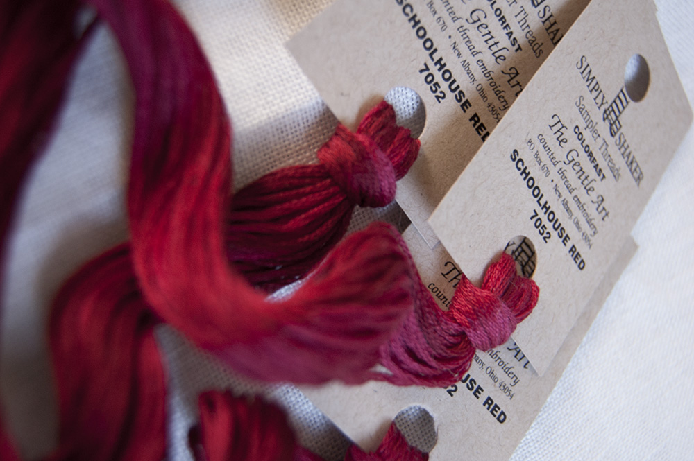 Some Schoolhouse Red threads