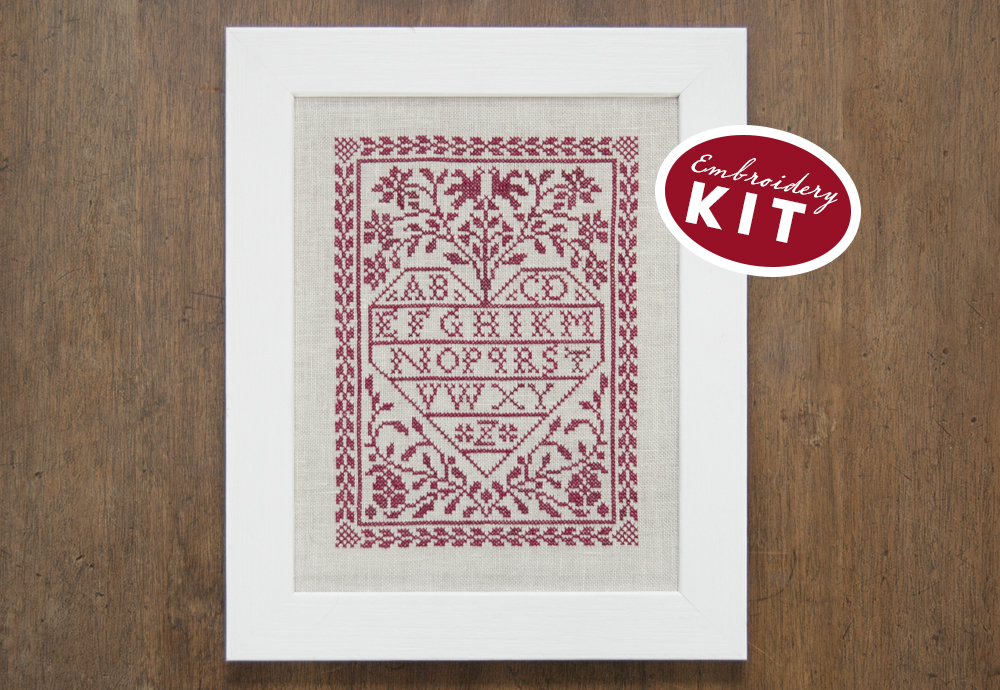 Love Letters - a Cross Stitch Kit by Modern Folk Embroidery