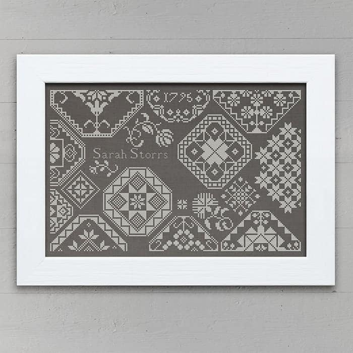 Sarah Storrs: A Quaker Sampler - original counted cross-stitch pattern by modern folk embroidery