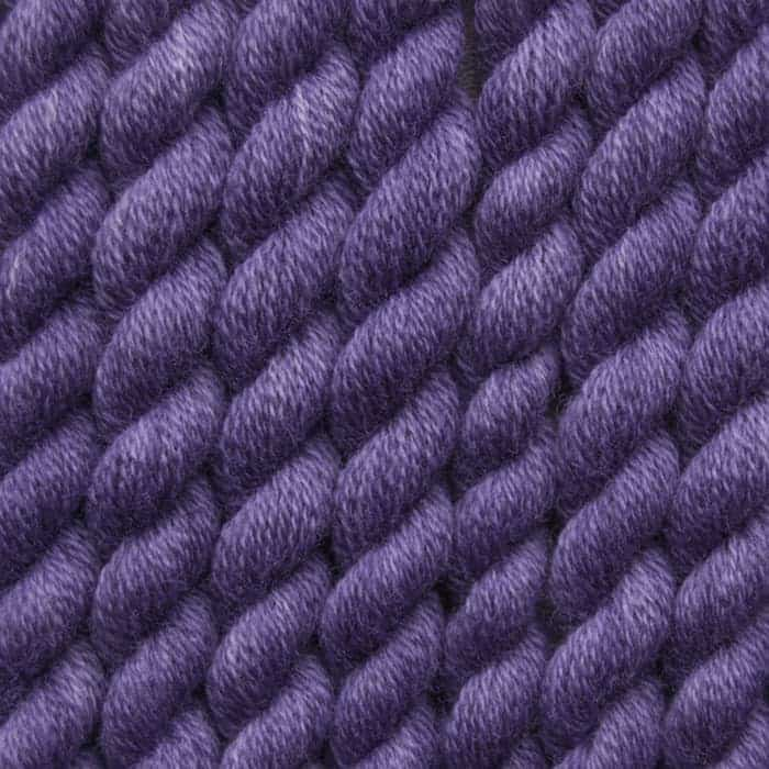 dark lavender hand dyed embroidery wool