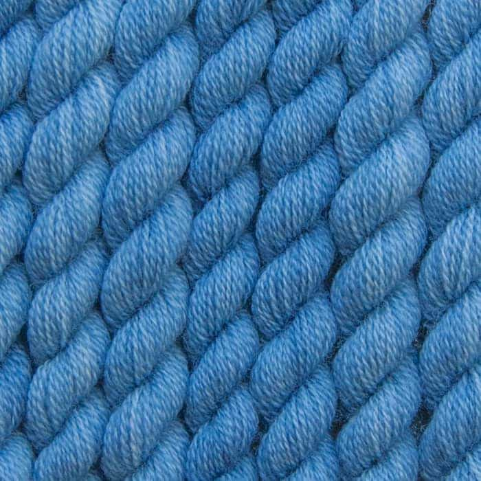 mid indigo hand dyed embroidery wool