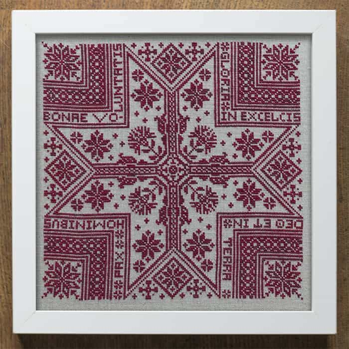 Gloria - A Christmas Starr Cross Stitch Sampler Pattern