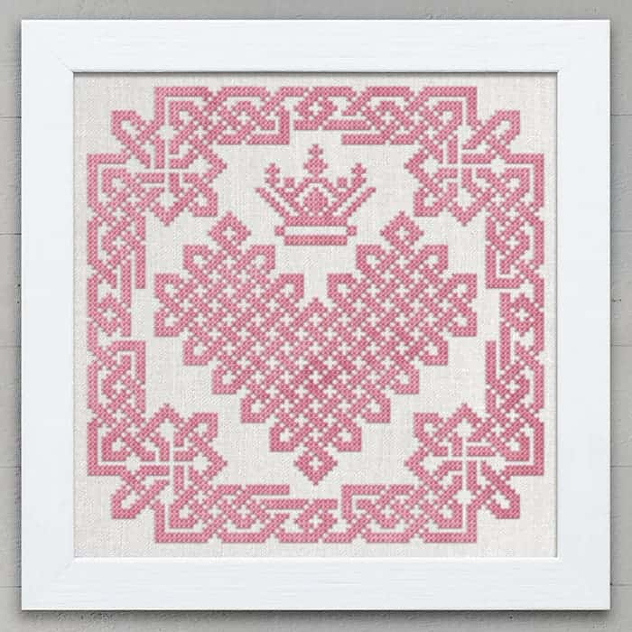 Croí Cheilteach - A Celtic Heart, PDF Counted cross-stitch pattern