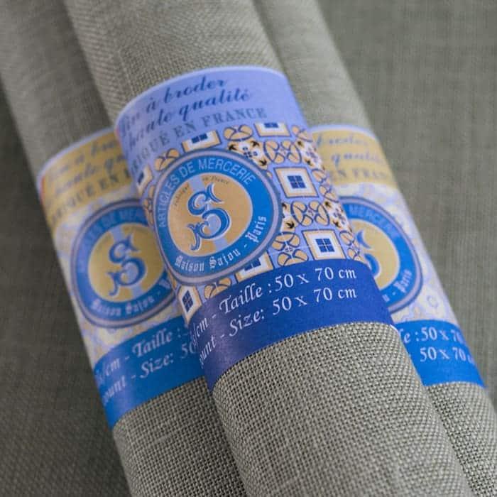 Evenweave 32ct / 12ct Sajou Embroidery Linen