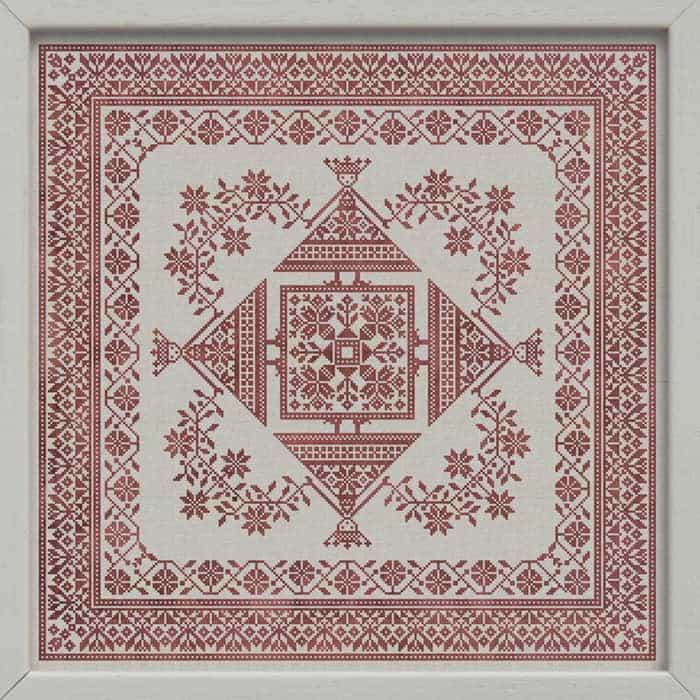 Spring Dance - Original Scandinavian inspired cross-stitch pattern by Modern Folk Embroidery