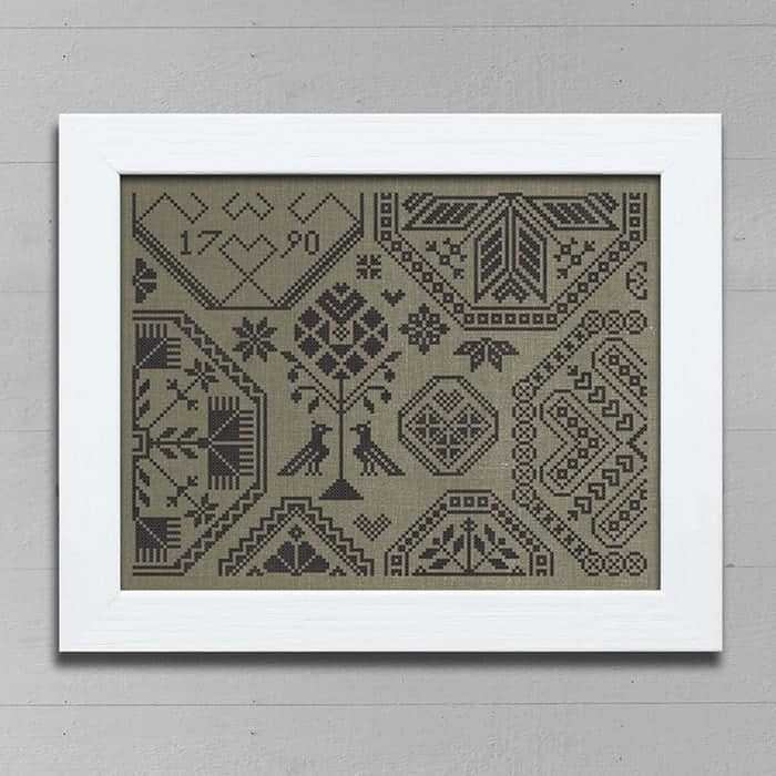 Quaker of Hearts - Counted Cross Stitch Kit by Modern Folk Embroidery