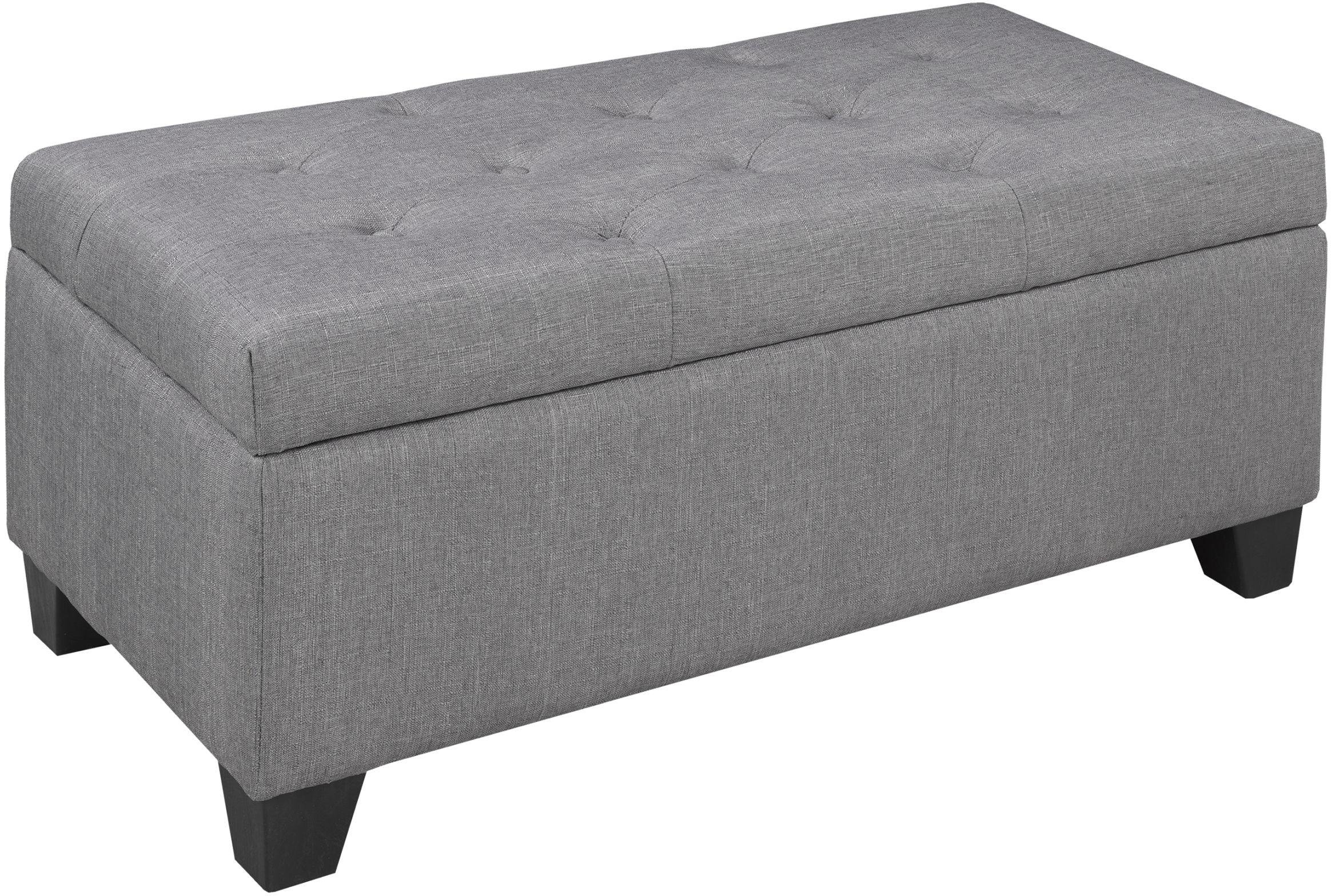 brassex tufted storage ottoman grey br 20091 gr modern furniture canada