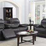 Brassex Beckley Recliner Sofa With Fold Down Tray Espresso Br Sa3000 S Coc Modern Furniture Canada