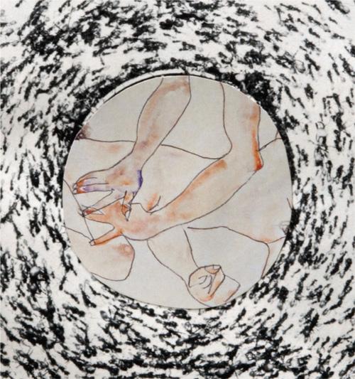 """Katharine Schutta, """"Tiny Dancer,"""" collage."""