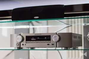 Marantz NR1605 zusammen mit Lautsprechern von Polk Audio