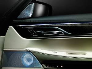 B&W-diamond-800 Diamanten-Hochtöner der Bowers & Wilkins Lautsprecher exklusiv im BMW 7er auf der IAA 2015