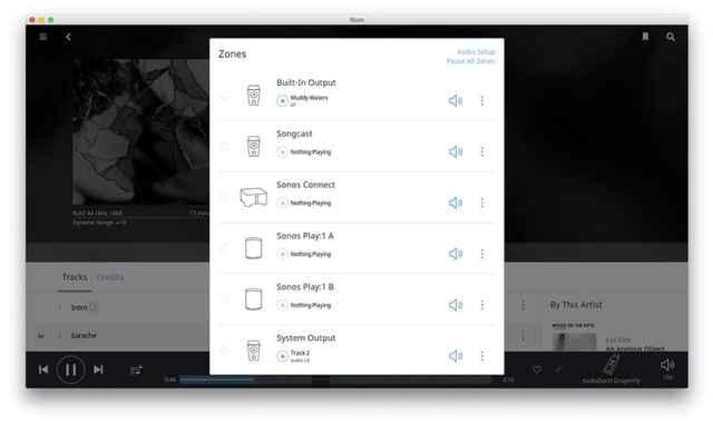 Roon 1.3 unterstützt die WLAN-Lautrsprecher und Multiroom-Produkte von Sonos