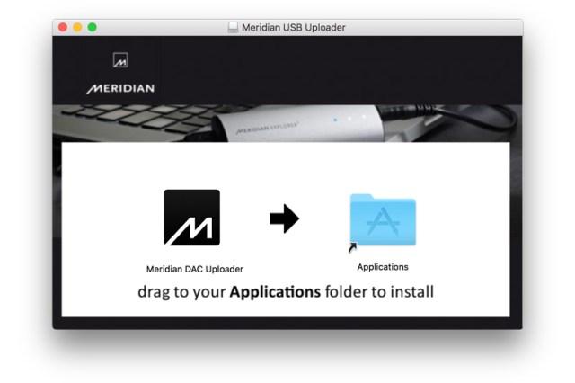 Meridian USB Uploader Software