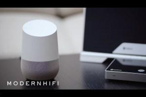 Video: Raumfeld-Lautsprecher per Sprachbefehl über Google Home steuern