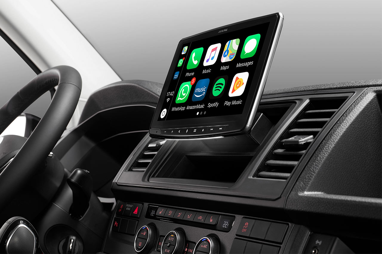 alpine ilx f903d apple carplay und android auto zum nachr sten. Black Bedroom Furniture Sets. Home Design Ideas