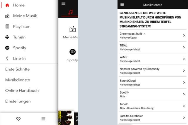 Teufel Stereo M iPhone App Bedienung