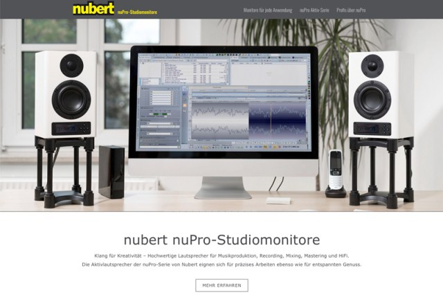 nuprofi-de neue Nubert-Website