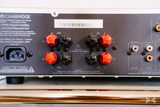 Cambridge Audio CXA 60 Test Lautsprecher-Bi-Wiring-Terminal