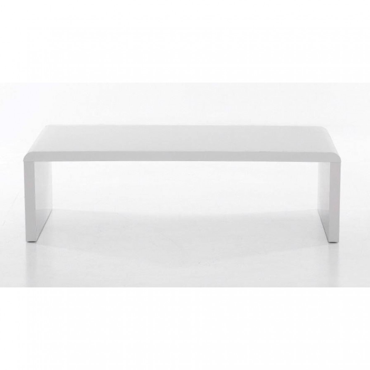 high gloss curved coffee table white