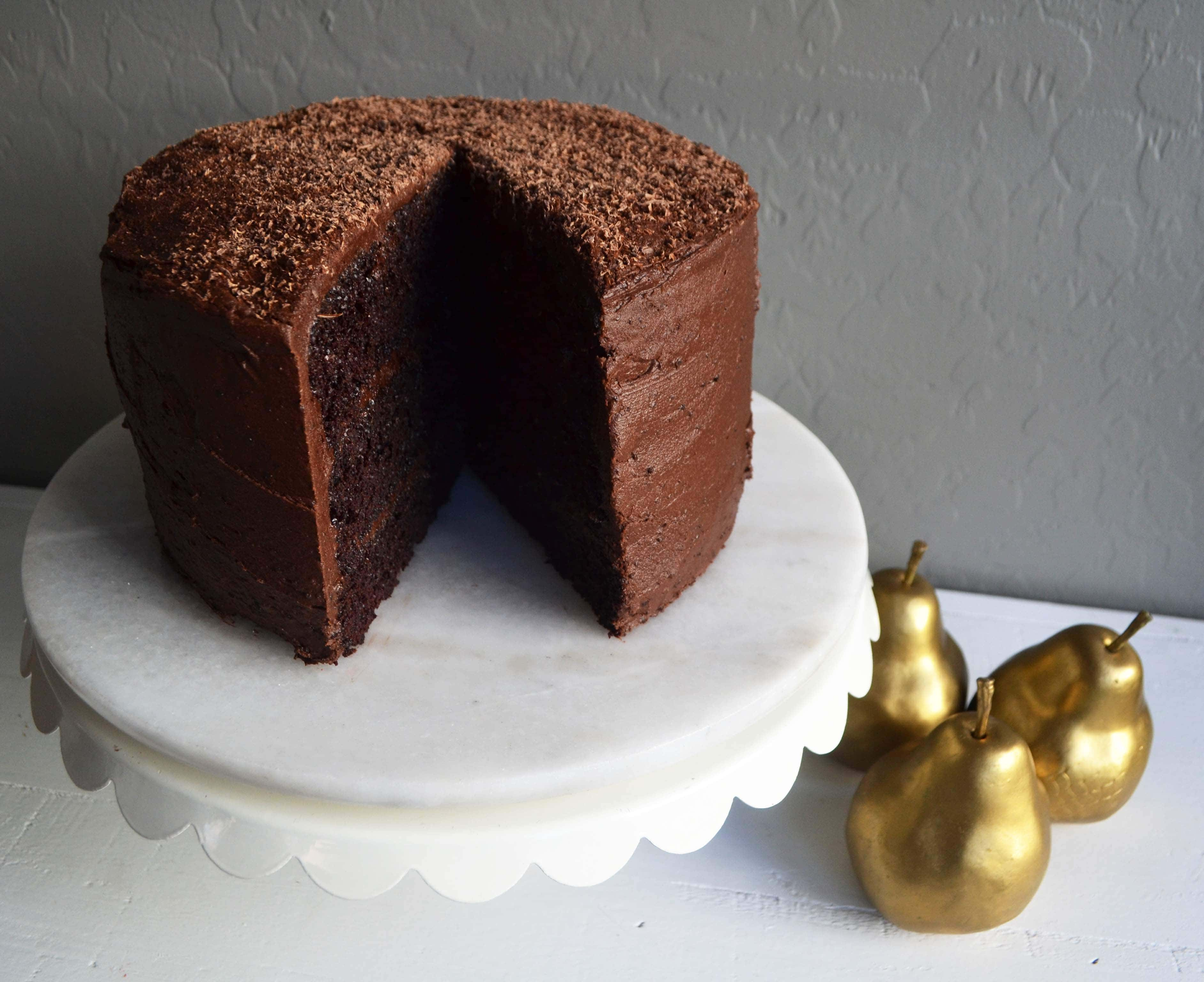 Love at First Sight Chocolate Cake by Modern Honey - www.modernhoney.com