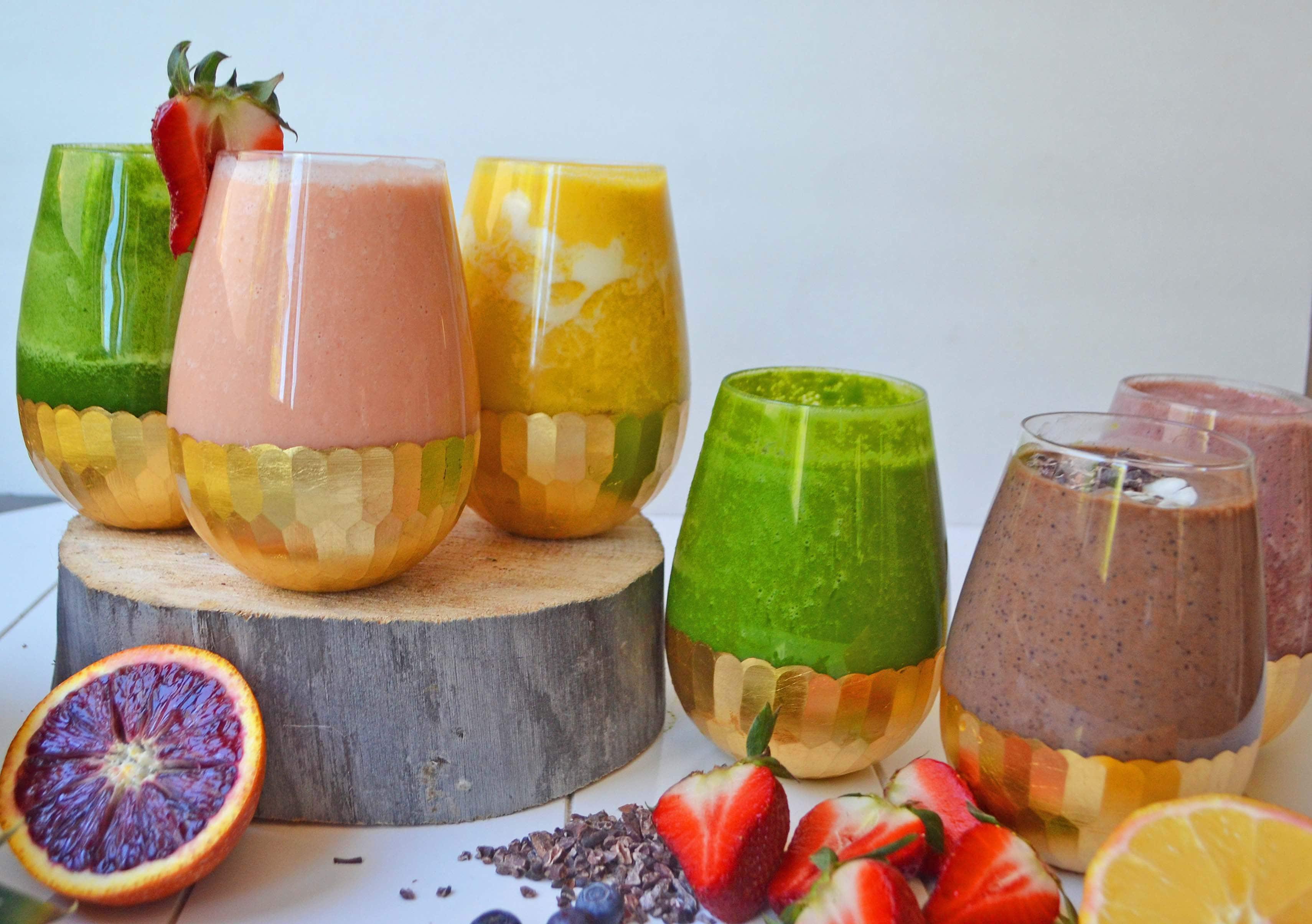 6 Superfood Healthy Smoothies by Modern Honey - www.modernhoney.com