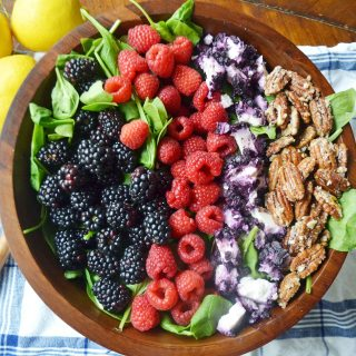 Berry Pecan Salad by Modern Honey - www.modernhoney.com