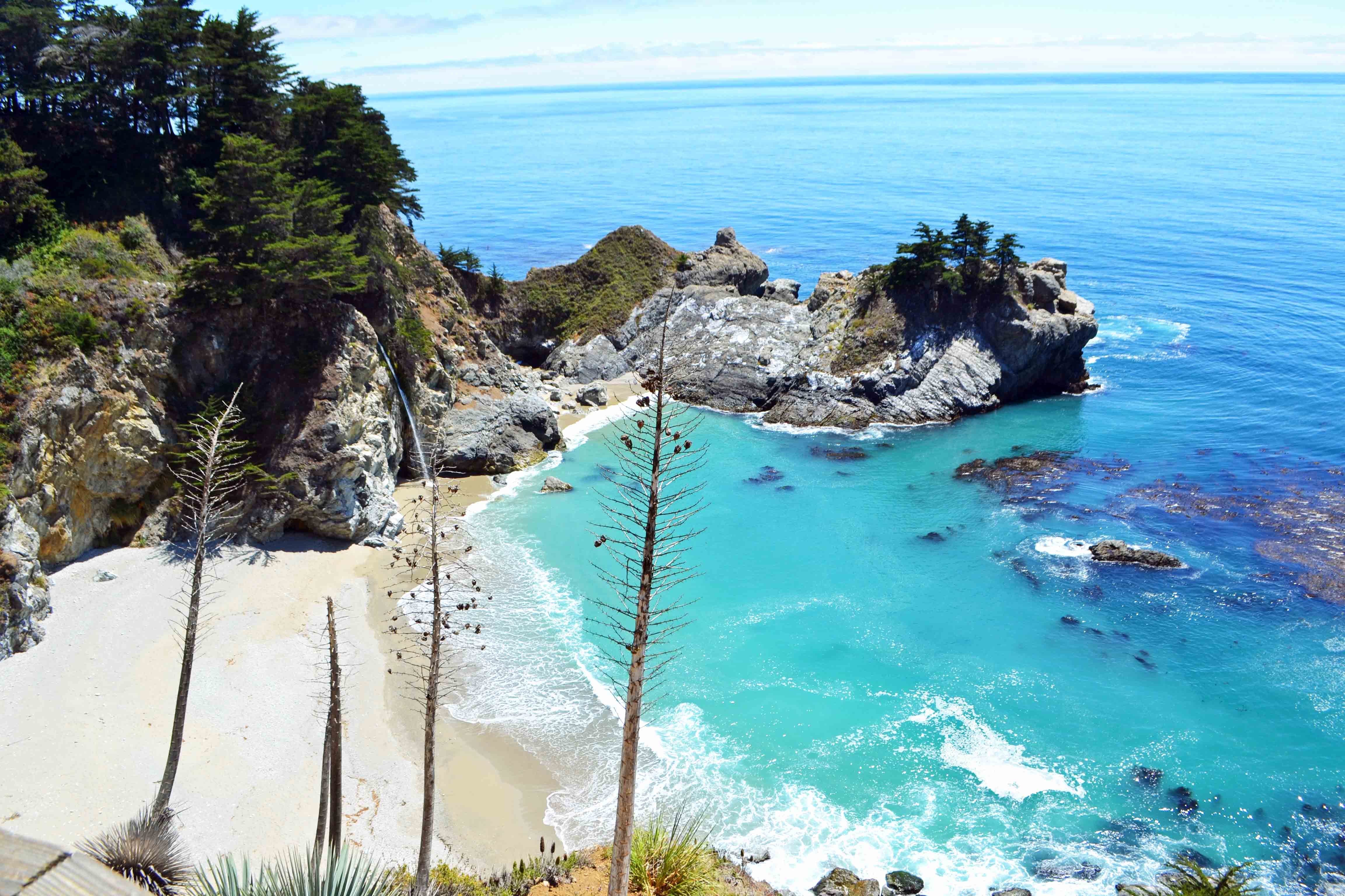 McWay Falls on California Pacific Coast Highway 1 Road Trip