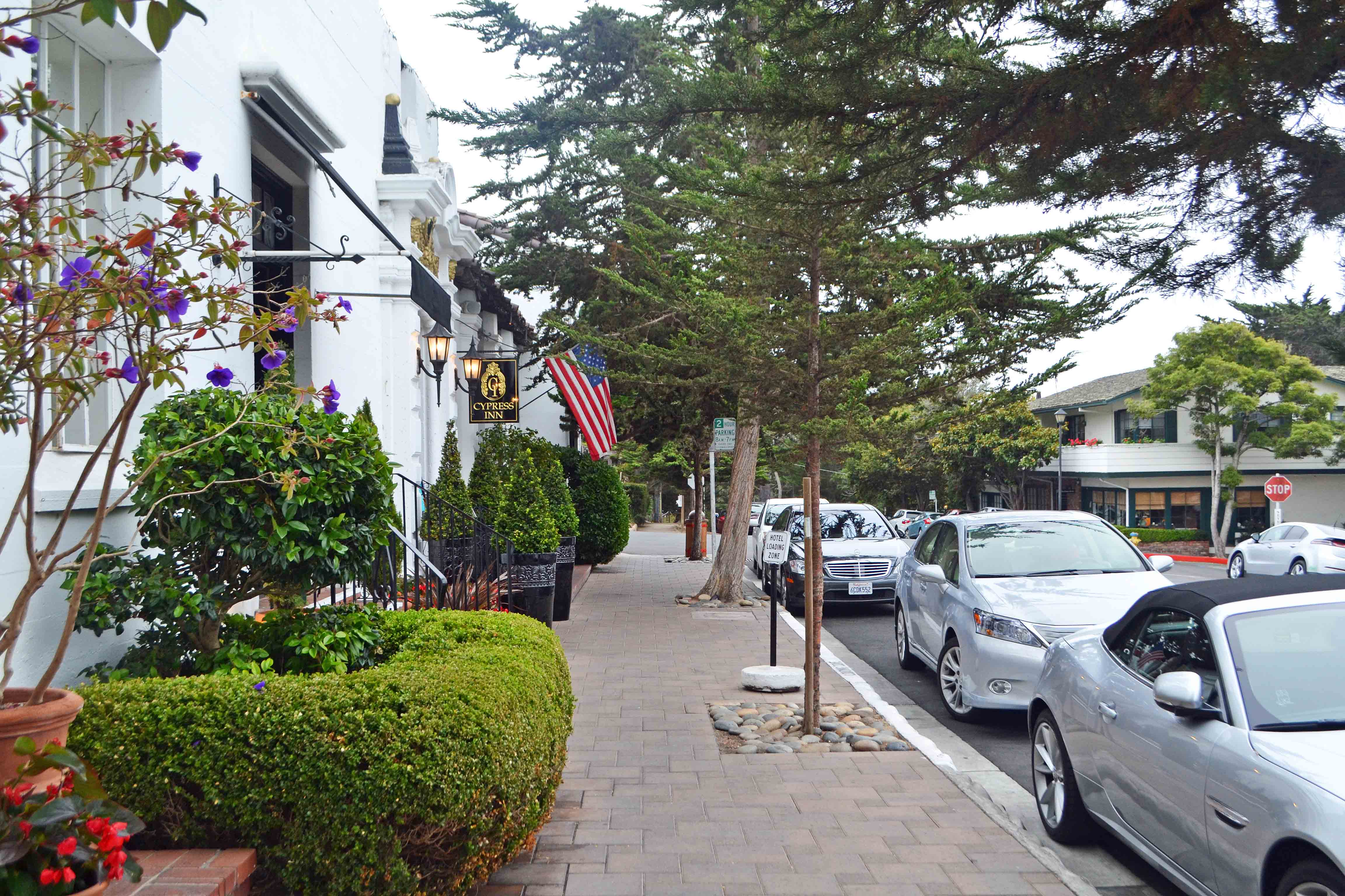 California Pacific Coast Highway 1 Road Trip Guide -- Downtown Carmel by the Sea Cypress Inn
