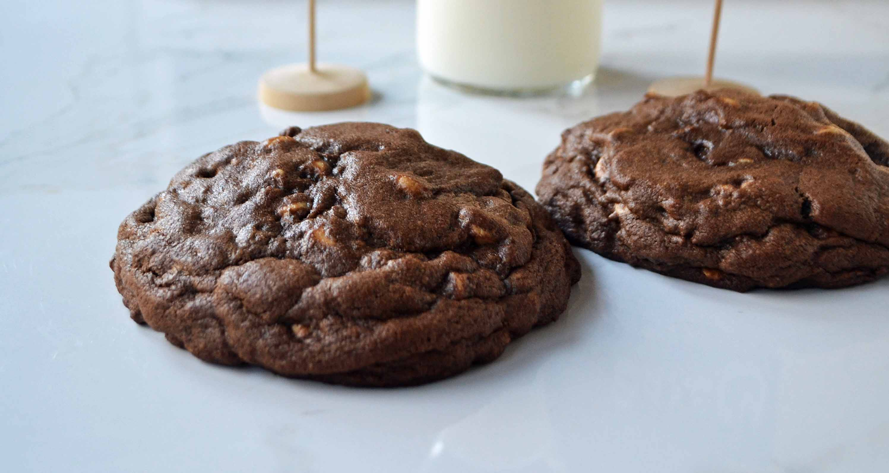 Levain Bakery Dark Chocolate Peanut Butter Chip Cookies by Modern Honey