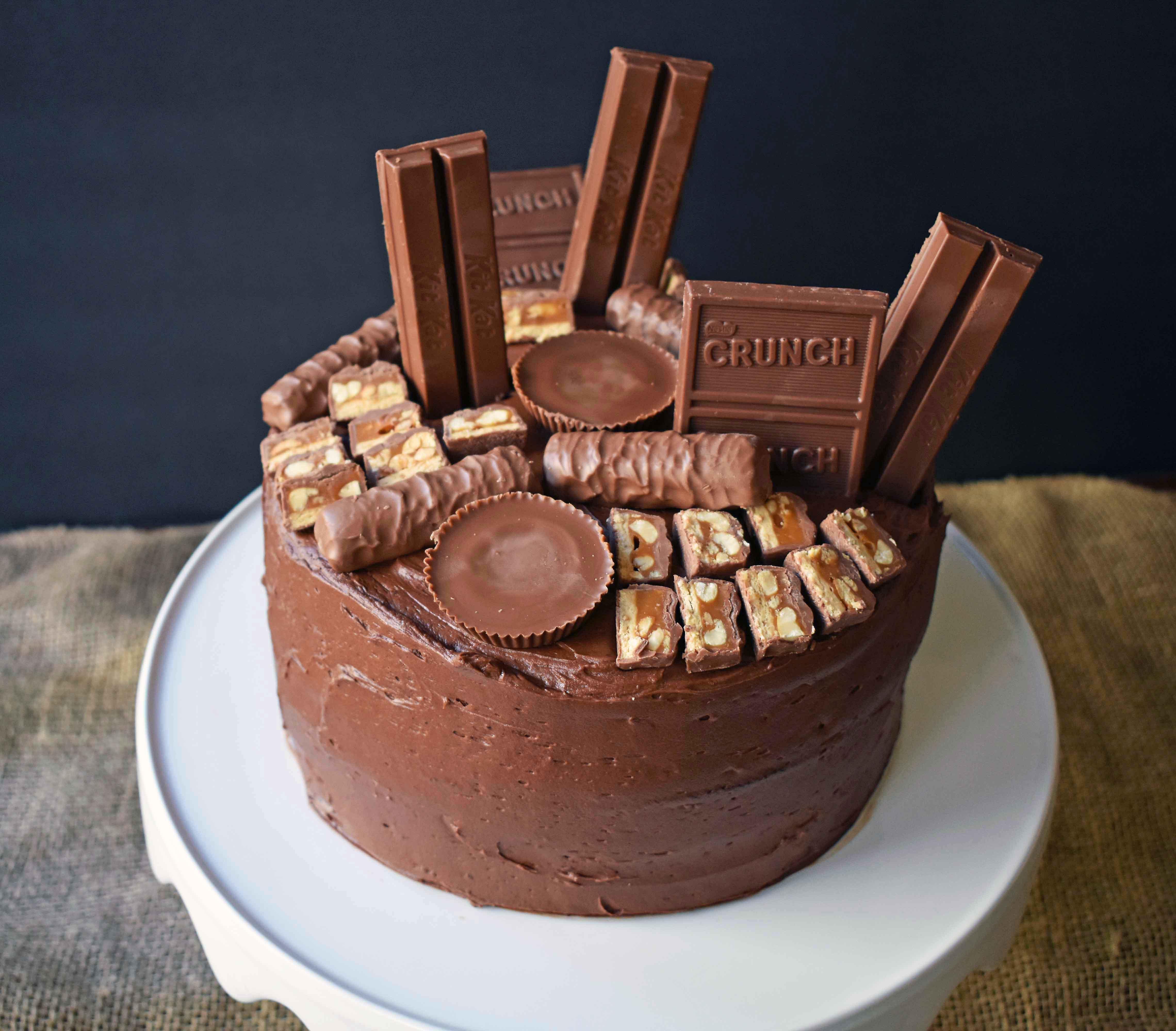 Candy Bar Stash Chocolate Cake Modern Honey