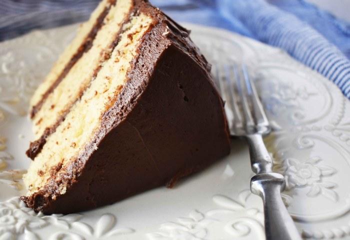 Yellow Birthday Cake With Milk Chocolate Frosting Modern Honey