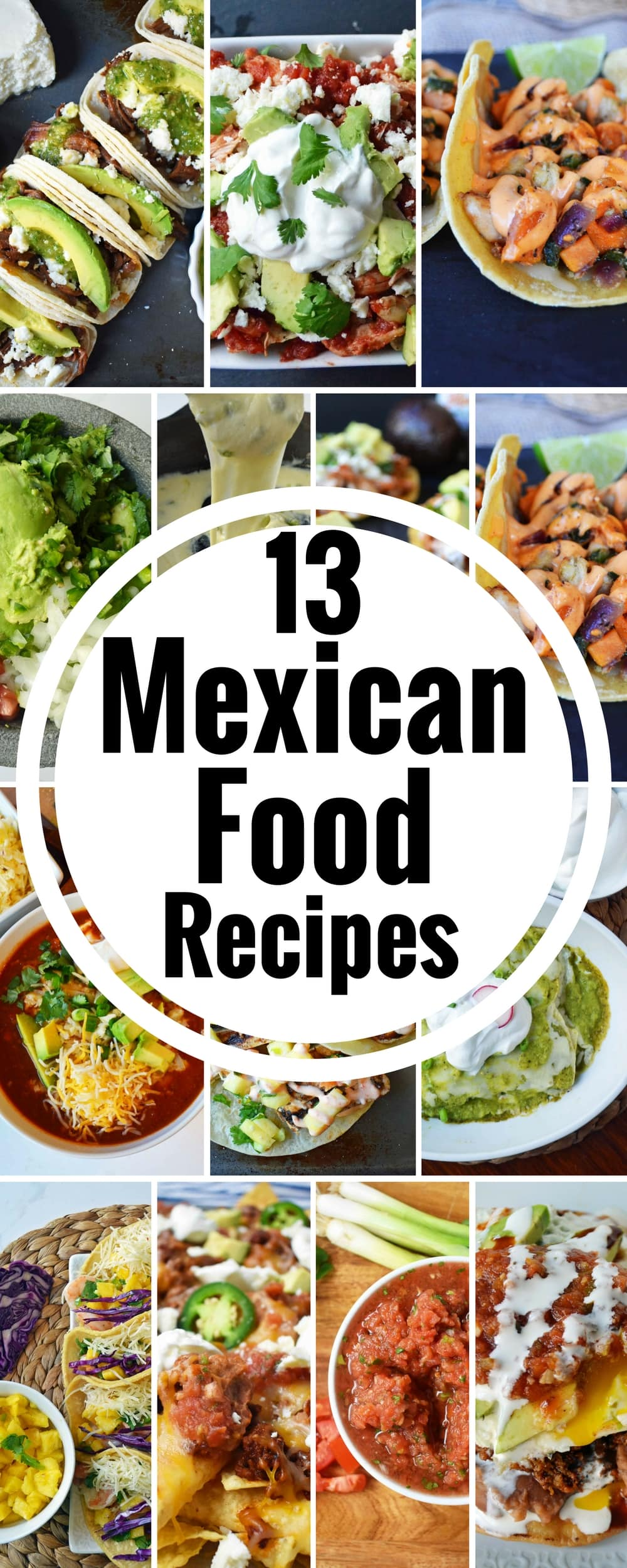 13 Cinco de Mayo Mexican Food Recipes all in one place. Chicken Enchiladas Verdes, Homemade Guacamole, Beef Barbacoa Tacos with Pepper Jack Queso, Jerk Chicken Tacos, Chorizo Tostadas, Chicken Poblano Sweet Potato Tacos, Honey Lime Shrimp Tacos, Chicken Chilaquiles, Texas Chili, Spicy Beef Nachos, Slow Cooker Beef Barbacoa, Restaurant Style Salsa, Slow Cooker Chicken Tinga Tostadas. www.modernhoney.com