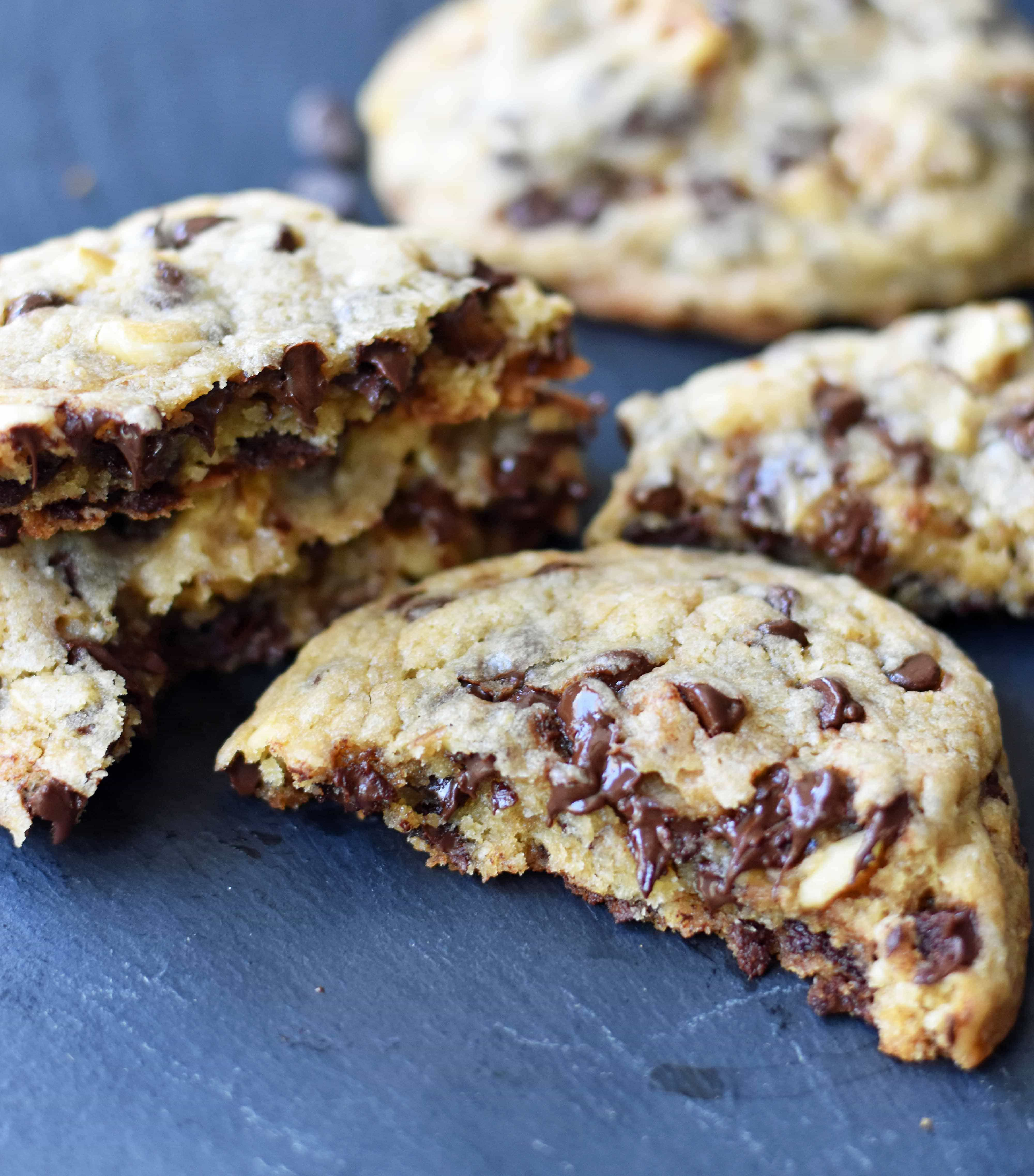 Copycat Doubletree Chocolate Chip Cookie Recipe. How to make the famous Doubletree Chocolate Chip Cookies at home. www.modernhoney.com