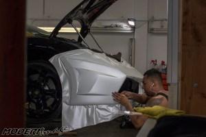 Modern Image goldRush Rally Lamborghini Gallardo Satin Pearl White Wrap 01