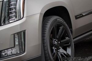 Modern Image Cadillac Escalade matte dark gray suv wrap 09