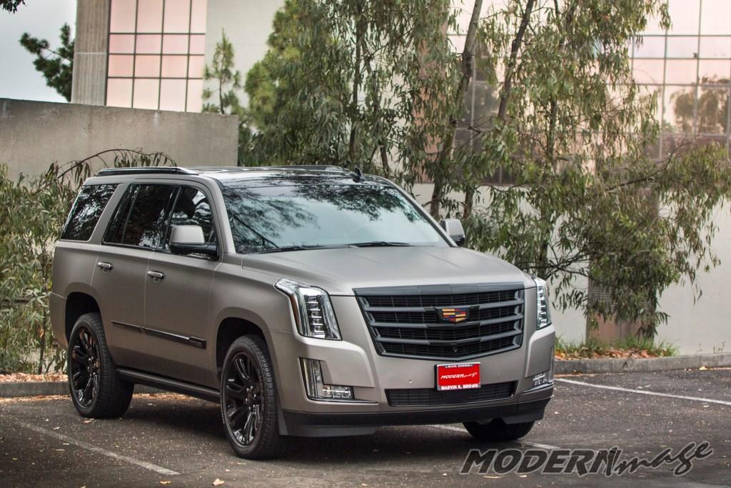 Modern Image Cadillac Escalade matte dark gray suv wrap 06